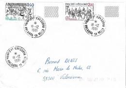 ANDORRE Timbres Sur Lettres 1981 EUROPA N° 292-293 Cote 16€ - Cartas