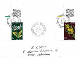 ANDORRE Timbres Sur Lettres 1980  FLEURS N° 286- 287 Cote 10€ - Cartas