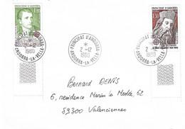ANDORRE Timbres Sur Lettres 1980  EUROPA N° 284 Et 285 Cote 16€ - Cartas