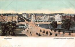 STOCKHOLM SWEDEN~STRANDVAGEN Ach NARVAGEN DJURGARDEN~1900s AXEL ELIASSONS #3110 POSTCARD 49489 - Sweden