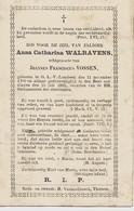 Souvenir Mortuaire WALRAVENS Anna (1799-1883) Echtg. VOSSEN, J. Geboren En Overleden Te ONZE-LIEVE-VROUW-LOMBEEK - Andachtsbilder