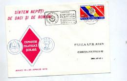 Lettre Flamme Arad Exposition - Marcofilie - EMA (Printer)