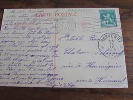 Carte Vue De Tongres Oblitérée Bxl Pour Le RELAIS De HARVENGT En 1914 - Sterstempels