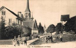 77859-  Zug St. Oswaldskirche 1913 - ZG Zug