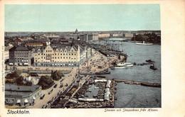 STOCKHOLM SWEDEN~VASABRONSLUSSEN SKEPPSBRON HISSEN~1900s AXEL ELIASSONS #223 POSTCARD 49493 - Sweden