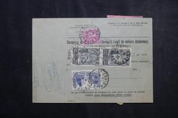 FRANCE - Bulletin De Colis Postal De St Louis En 1932 Pour Toulouse, Affranchissement Au Verso - L 73204 - Cartas
