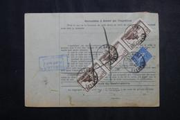 FRANCE - Bulletin De Colis Postal De Wasselonne En 1932 Pour Toulouse, Affranchissement Recto / Verso - L 73205 - Cartas