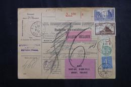 FRANCE - Bulletin De Colis Postal De Rothau En 1932 Pour Toulouse, Affranchissement Fiscal / Timbres Postes - L 73211 - Cartas