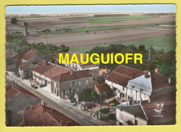 DJ / 52 HAUTE MARNE / JUZENNZCOURT / VUE AÉRIENNE : LE GARAGE, STATION AZUR ET LA VIEILLE AUBERGE / 1967 - Juzennecourt