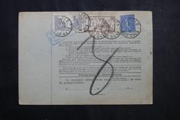 FRANCE - Bulletin De Colis Postal De Mutzig En 1932 Pour Toulouse, Affranchissement Fiscal / Timbres Postes - L 73214 - Cartas