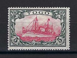 ⭐ Togo - Possession Allemande - YT N° 22 * - Avec Filigrane - Neuf Avec Charnière - 1909 / 1914 ⭐ - Colony: Togo
