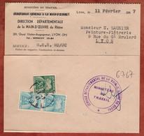Faltbrief, Timbres Taxe Portomarken, Lyon 1947 (98181) - Segnatasse