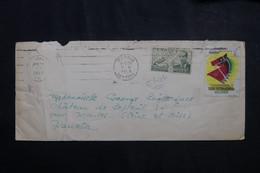 """ESPAGNE - Enveloppe De Madrid Pour Paris En 1953 Avec Vignette """" Feria International Delcampo """" - L 73231 - 1951-60 Cartas"""