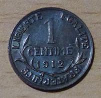 FRANCE Superbe 1 Centime Daniel Dupuis 1912 - Francia