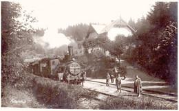 TUSNAD / HARGHITA : GARA / RAILWAY STATION / TRAIN - CARTE VRAIE PHOTO / REAL PHOTO : ADLER OSCAR ~ 1930 (af632) - Rumania