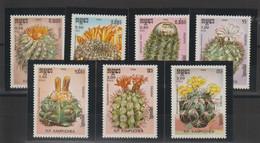Kampuchea 1986 Fleurs Cactus 646-52 7 Val ** MNH - Kampuchea