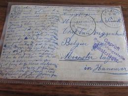 14-18: Carte Fantaisie De Seraing 1 En 1915 Pour Le Camp De MUSTERLAGER (Hannovre) Avec 2 Censures - Andere Brieven