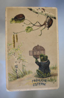 B638 Frohliche Ostern! Frog . Bugs / Funny - 1914 - Stampila / Stamp Chisinau - Pascua