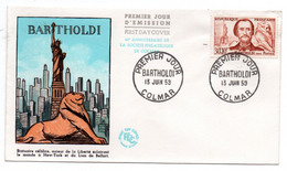 Carte 1er Jour / Bartholdi / Colmar / 15-6-1959 - 1950-1959