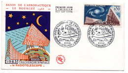 Enveloppe 1er Jour  / Radiotelescope / Le Bourget / 14-9-1963 - 1960-1969