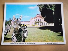 1 Carte Postale  Neuve  Zèbre Château De St Augustin Le Veurdre Allier - Cebras