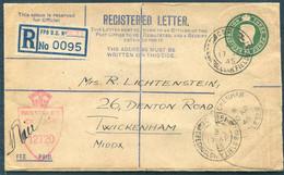 1945 GB Czechoslovakia Czech Forces Dunkirk C.S.P.P. Fieldpost Registered Letter Cover - Lichtenstein Twickenham Judaica - Storia Postale