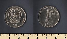 Rwanda 10 Francs 2009 - Rwanda