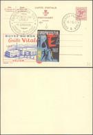 "Publibel N°1717 ""Buvez Du Bon Lait"" + Obl Temporaire Automobiel Postkantoor A (1960) & Vignette ""Europafeesten"" (Tielt) - Stamped Stationery"