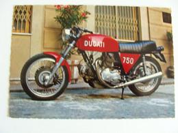 DUCATI 750   MOTO MOTOS SCOOTER  MOTOCICLO    POSTCARD UNUSED  FORMATO  GRANDE - Motorbikes