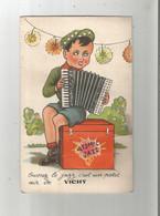 VICHY (ALLIER) CARTE A SYSTEME AVEC DEPLIANT VUES DE VICHY OUVREZ LE JAZZ C'EST UN PETIT AIR DE VICHY - Vichy
