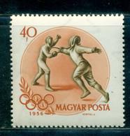 1956 Fencing, Fechten, Scherma, Melbourne Olympics, Hungary, Mi. 1474, MNH - Verano 1956: Melbourne