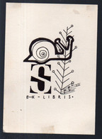 Ex-libris Avec Escargot (PPP24171) - Ex Libris