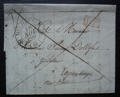 Mulhouse 1836 Mülhausen Haut-Rhin Cachet T12 Lettre En Port Payé Pour Lapoutroie - 1801-1848: Precursores XIX