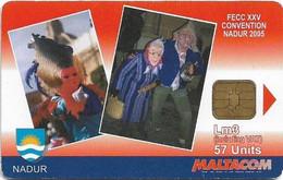 Malta - Maltacom - Nadu Carnival, 3₤, 10.000ex, Used - Malta