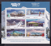 RUSSIA 2013 #1760-1765. The XXII Olympic Winter Games 2014 In Sochi. Olympic Sports Venues M/s MNH - Blocchi & Fogli