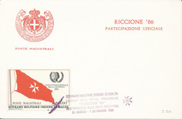 FDC 1986 - Sovrano Militare Ordine Di Malta