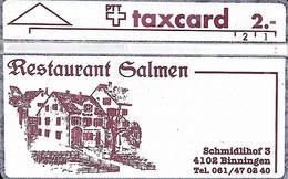 Switzerland: PTT K-91/105 111E Restaurant Salmen, Binningen - Schweiz