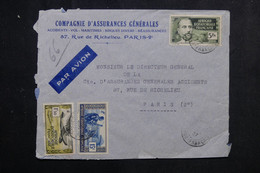 A.E.F. - Affranchissement De L 'A.E.F. Sur Enveloppe Commerciale Pour Paris En 1937 Par Avion - L 73316 - Covers & Documents