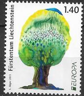 2011 Liechtenstein  Mi.  1591**MNH   Europa: Der Wald. - Ongebruikt