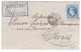 N° 29B Ambulant Strasbourg à Paris 29 Mars 1869 - 1849-1876: Periodo Clásico