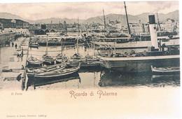 B3945 - Palermo, Ricordo Di Palermo, Il Porto, Non Viaggiata Retro Indiviso - Palermo