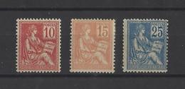 FRANCE.  YT   N° 116/118  Neuf *  1900 - 1900-02 Mouchon
