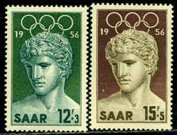 Germany SAAR 1956 Melbourne Olympics, Winner Of Benevento, Mi. 371-2, MNH - Verano 1956: Melbourne