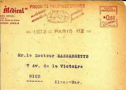 Lettre  EMA Satas SC 1945 Produits Pharmaceutiques Specia Rhone Poulenc Chimie Medecine 75 Paris   A81/05 - Farmacia