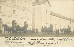 LA ROCHE SUR YON - Le Haras, Attelages, Carte Photo En 1904. - La Roche Sur Yon