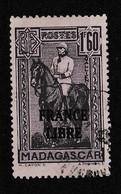 MADAGASCAR YT FRANCE LIBRE 250 Oblitéré - Portomarken