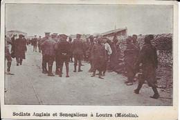Soldats Anglais Et Senegaliens à Loutra (mételin) Carte En Bon état - Grecia