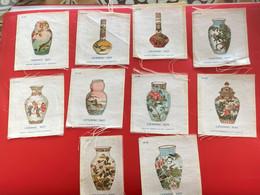 10 X Collectors Silk BDV B D V Phillips Cigarettes Silks Ceramic Art C1925-Insights - Godfrey Phillips Badges En Soie - Zigarettenzubehör