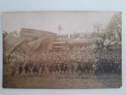 PHOTO RIGAL DE MAZAMET DERAILLEMENT D UN TRAIN PENDANT LA GUERRE - Mazamet