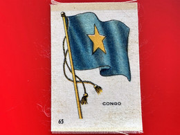 CONGO BELGE Collectors Silk BDV Phillips Cigarettes Silks Flag Drapeau C1925-Insights-Godfrey Phillips Badge En Soie - Zigarettenzubehör